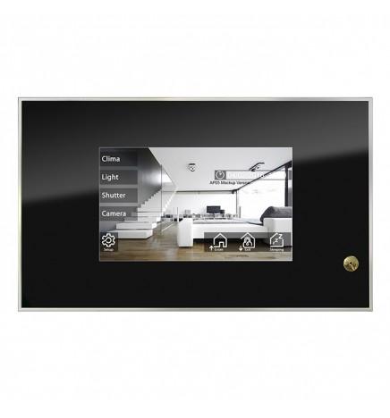 BX EIB/KNX Theo 7 Touch Panel & Videocitofono IP Cromo Nero BX-T7IP