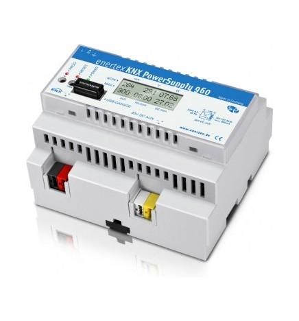 E.B® Alimentatore di linea 960mA & Misuratore Tensione Corrente Potenza (6 DIN)