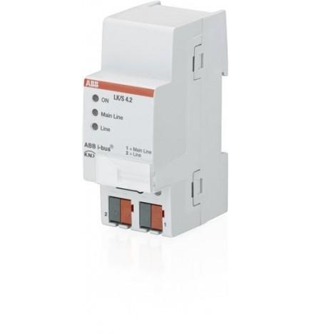 ABB EIB / KNX Accoppiatore-Amplificatore di linea MDRC (2 DIN) LK/S 4.2