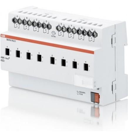 ABB EIB / KNX Terminale di uscita 8CH 10A MDRC (8 DIN) SA/S8.10.2.1