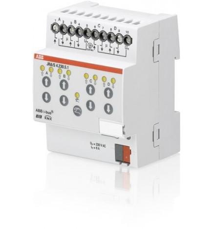 ABB EIB/KNX Attuatore Tapparelle Calcolo Movimento 4CH (4 DIN) JRA/S4