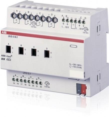 ABB EIB/KNX Regolatore luminosità 4CH 16A (6 DIN) LR/S 4.16.1