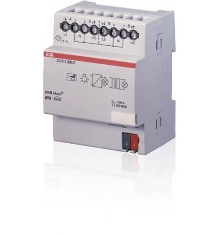 ABB EIB / KNX Universal Dim Actuator, 2-fold, 300 VA, MDRC (4 DIN)