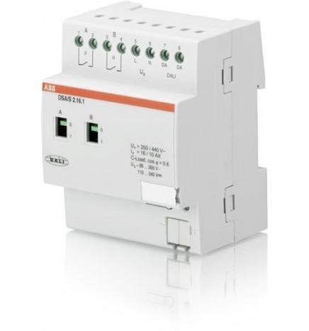 ABB EIB/KNX DALI 2CH 16 AX Capacitivo (4 DIN) DSA/S2.16.1