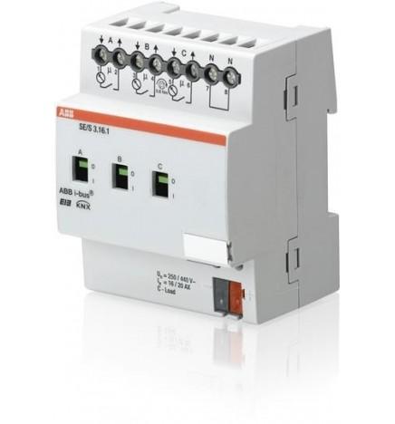 ABB EIB/KNX Monitoraggio Controllo Carichi 3CH 16/20 AX (4 DIN) SE/S3