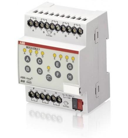 ABB EIB/KNX Ingresso Binario 8CH 10–230V c.a./c.c. (4 DIN) BE/S8.230.2