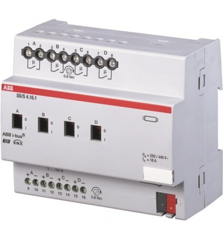 ABB EIB / KNX Dimmer/ON-OFF 4CH 16 A (1...10 V) MDRC (6 DIN)