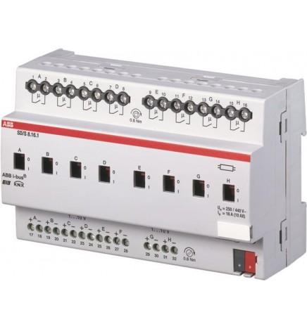 ABB EIB / KNX Dimmer 8CH 16A (1-10 V) MDRC (8 DIN) SD/S8.16.1