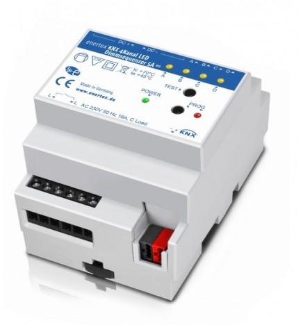 E.B® KNX Attuatore Dimmer Led 4 Canali 5A REG (4 DIN)