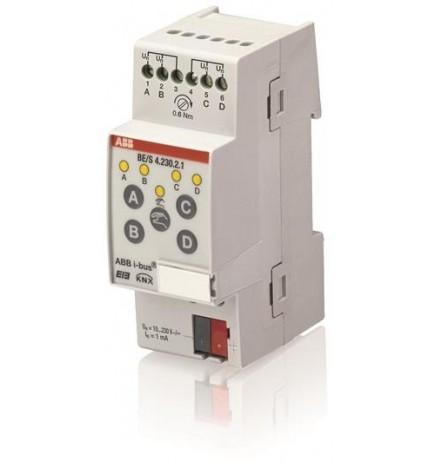 ABB EIB / KNX Binary Inputs 4CH 10 – 230 V AC/DC, MDRC (2 DIN)