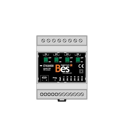 BES Attuatore Multifunzione 6 Ingressi Digitali 4 Uscite 30A (4 DIN)