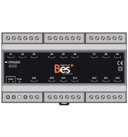 BES Attuatore Multifunzione 16 Uscite 16A (9 DIN)
