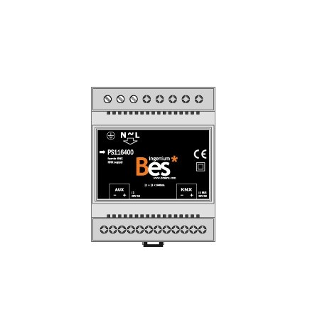 BES 640mA Power Supply - 29V DC aux. output