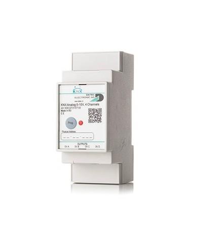 D.E AG EIB/KNX Attuatore Analogico 0-10V 4CH (2 DIN)