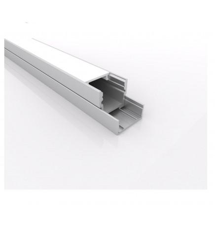 PGS Led Profile Slim Line LN.00 Alluminium 1m Opal Cover