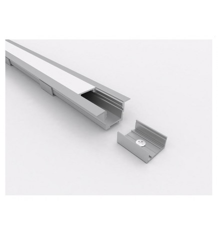 PGS Led Profile Slim Line T LN.01 Alluminium 1m Opal Cover