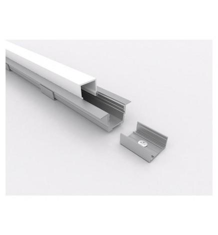 PGS Led Profile Slim Line T.K LN.01.K Alluminium 1m Opal Cover