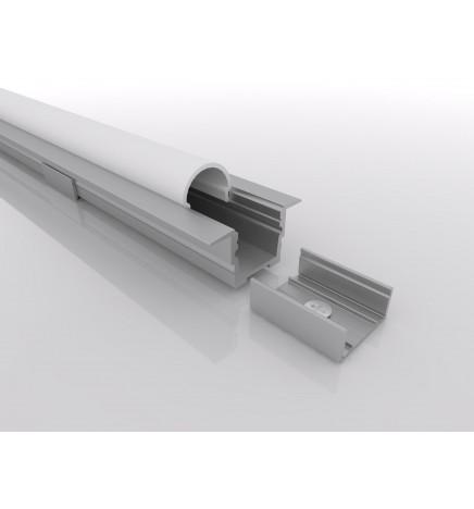 PGS Profilo Led Slim Line T.Y LN.01.Y Alluminio 1m Cover Opale