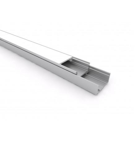 PGS Profilo Led Slim Line mini LN.02 Alluminio 1m Cover Opale
