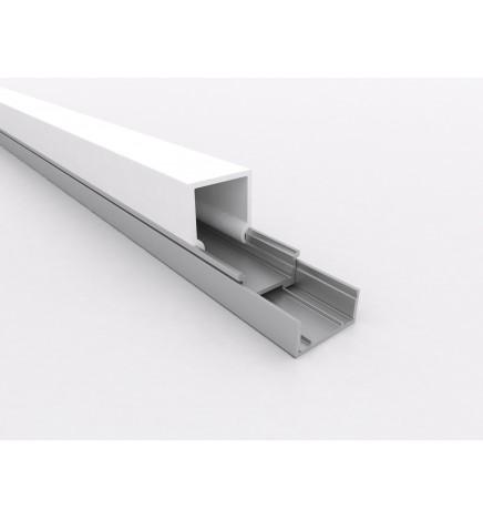 PGS Profilo Led Slim Line mini K LN.02.K Alluminio 1m Cover Opale