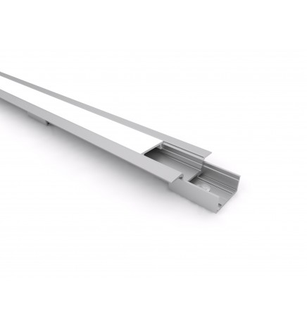 PGS Profilo Led Slim Line mini T LN.03 Alluminio 1m Cover Opale