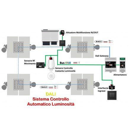 DALI System Automatic Control Brightness