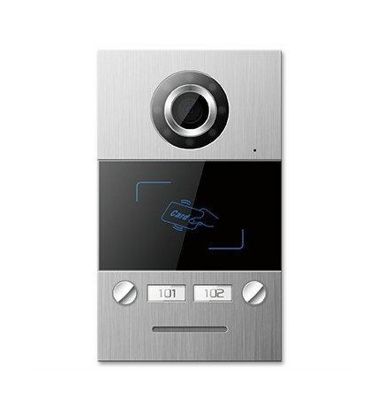 TCP/IP Videocitofono Postazione Esterna Bifamiliare Card Reader