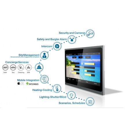 """EAE Technology 12"""" Valesa Touch Panel KNX 8CH Ingresso"""