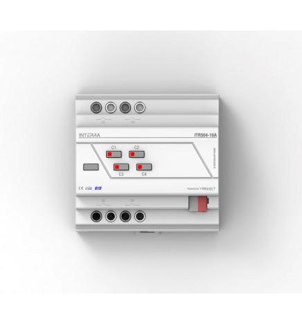 Attuatore Multifunzione 4 Canali 16A Comando Manuale