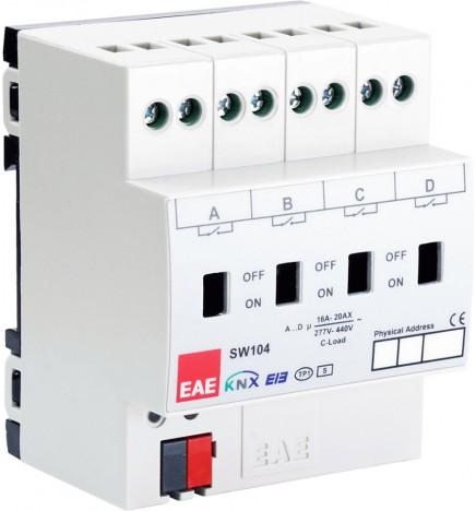 EAE Technology Attuatore 4x16A C-LOAD On/Off 500A Corrente Spunto