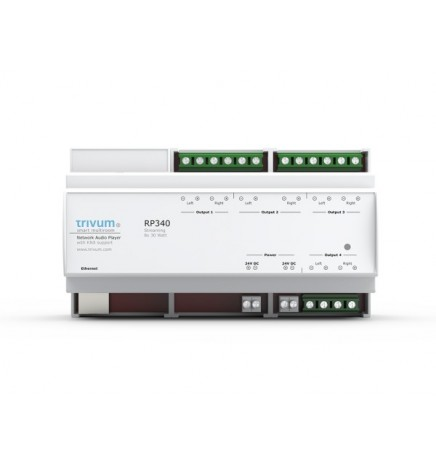 TRV-Sound System RP340 Amplificatore Streamer Radio 4 Camere