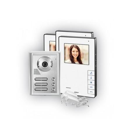 GEV® Kit Videocitofonico Trifamiliare