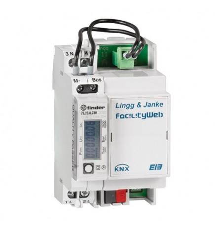 Lingg&Janke® Contatore di Energia Elettrica Monofase diretto (3 DIN)