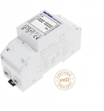 MID Smart Meter SDM 230 Monofase Interfaccia Modbus RTU Max 100A Inserzione Diretta