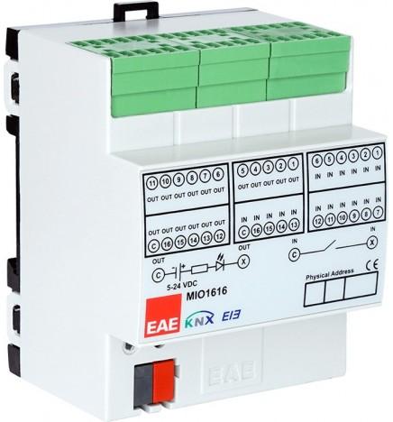 EAE MIO1616 KNX Modulo Ingresso Binario 16 IN 16 OUT