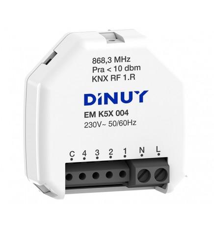 DINUY RF KNX INGRESSO BINARIO/ANALOGICO A 4 CANALI 230V