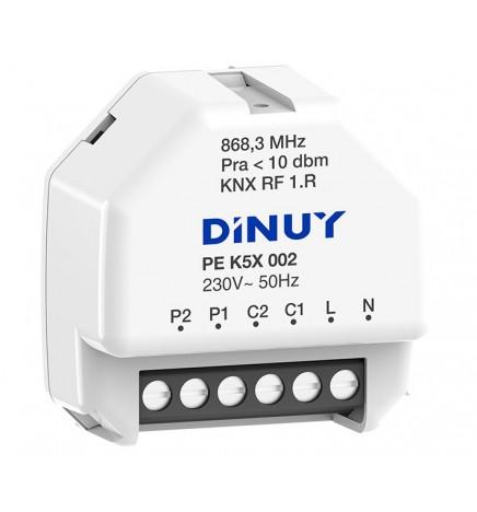 DINUY RF KNX COMMUTATORE 2 CANALI / ATTUATORE TAPPARELLE