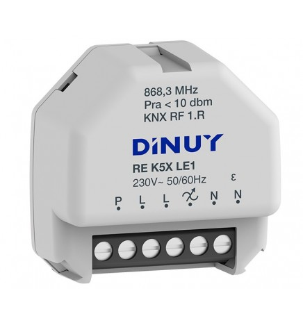 DINUY RF KNX ATTUATORE DIMMER 1 CANALE RLC + LED