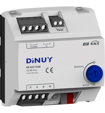 DINUY TP KNX ATTUATORE DIMMER STRISCE LED 4 CANALI / 1 CANALE RGB+W