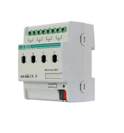 GVS EIB / KNX Attuatore 4CH 16A (4 DIN) Misuratore Corrente ARCD-04/16.1