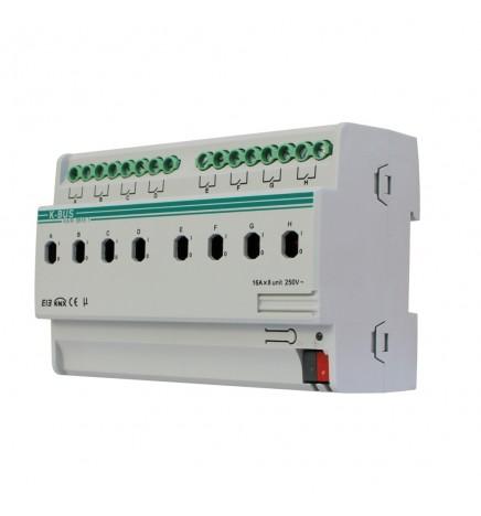 GVS EIB / KNX Attuatore 8CH 16 A (8 DIN) KA/R 08.16.1