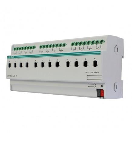 GVS EIB / KNX Attuatore 12CH 16A (12 DIN) KA/R 12.16.1