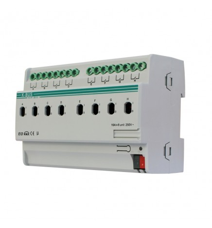 GVS EIB / KNX Attuatore 8CH Misuratore Corrente 16A (8 DIN) ARCD-08/16.1