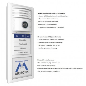 Mobotix T25-6MP Video Door IP White MX-T25-SET2