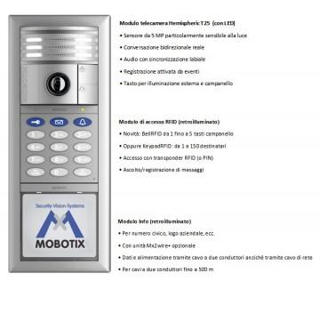 MOBOTIX T25-6MP KIT-1 Silver Videocitofono IP MX-T25-SET1-S