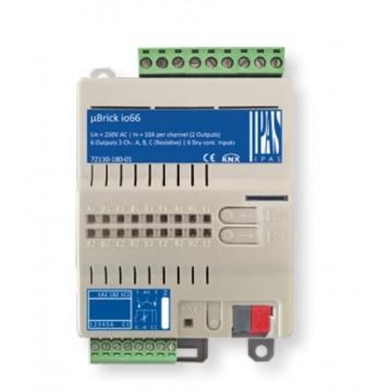 IPAS EIB/KNX μBrick io66 Attuatore 6 In & 6 Out (4 DIN) 72130-180-01