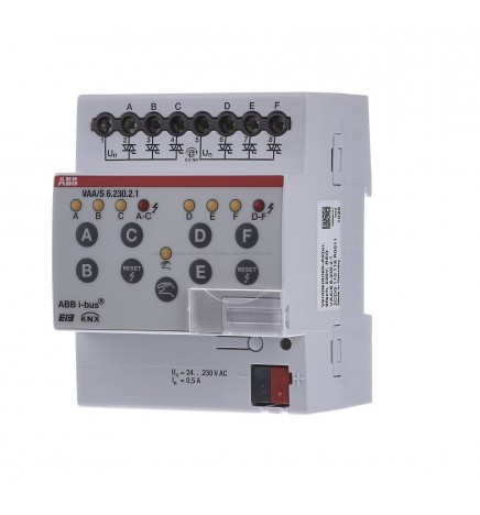 ABB EIB/KNX Valve Drive Actuator 6CH 230V (4 DIN) VAA/S 6.230.2.1