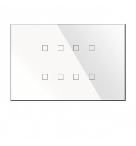 BX KNX KRISTAL Pulsantiera Touch Vetro Bianca 8CH BX-R08W