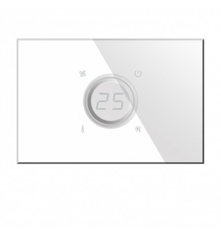 BX KNX KRISTAL Glass Thermostat White BX-R07W