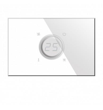 BX KNX KRISTAL Termostato Touch Vetro Bianco BX-R07W
